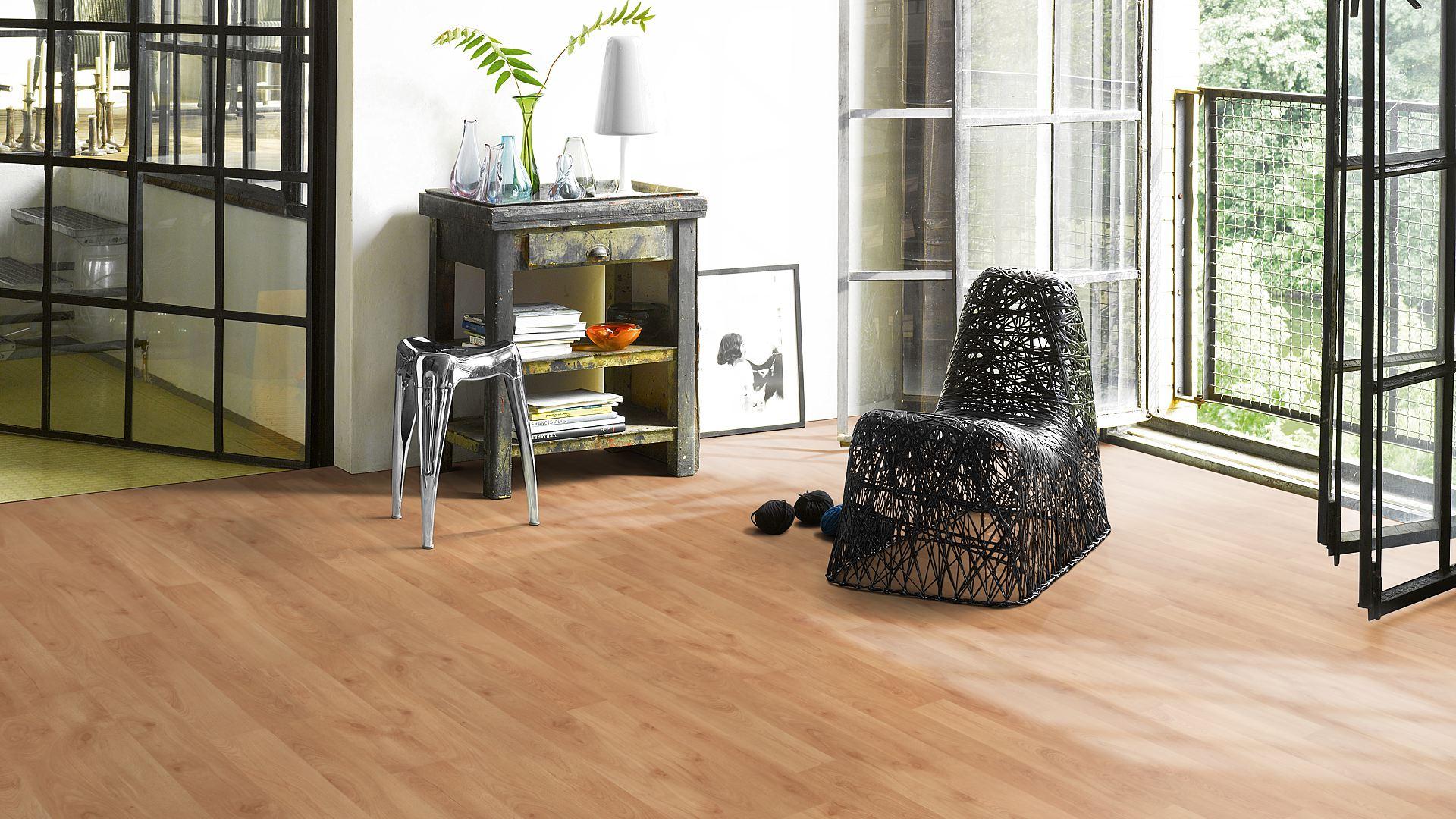 Ламинат Parador, Basic Plus 200, 1440984 Бук, 2-полосный, древестная поверхность